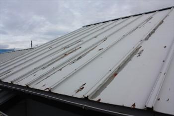 ■張替え前の屋根